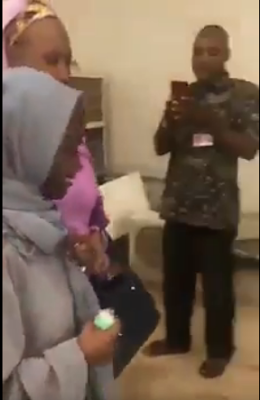 Tears, Emotions As Zainab Aliyu Reunite  With Her Family In Nigeria