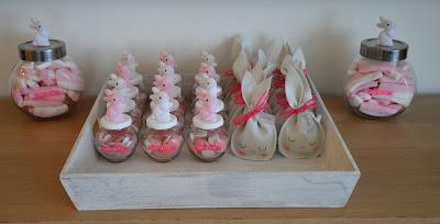doopduiker, konijn, roze, wit, meisje, baby, geboorte,