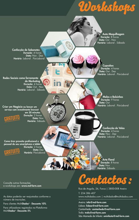 Workshops em Aveiro (Novembro / Dezembro / 2014)