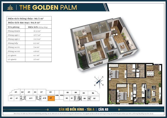 Căn A9 - 90m - The Golden Palm