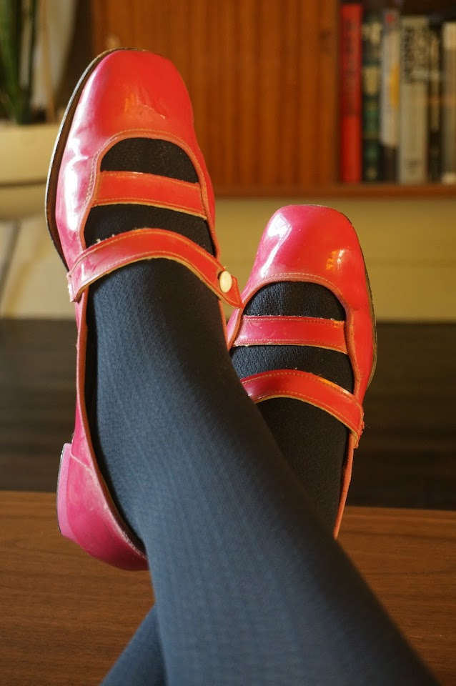60s pink patent maryjane 1960s mod twiggy années 60 verni rose