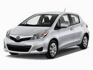 Semua model mobil toyota Yaris 2014 dilengkapi dengan 1.5ltr, empat silinder, transmisi manual 5 speed standar pada trim dasar dan otomatis 4 speed standar pada semua trims. Berikut Spesifikasinya:
