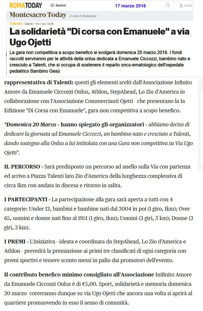 b27dcfc2631 TG-ROMA Talenti  Domani a via Ugo Ojetti Festa di primavera 2016 ...