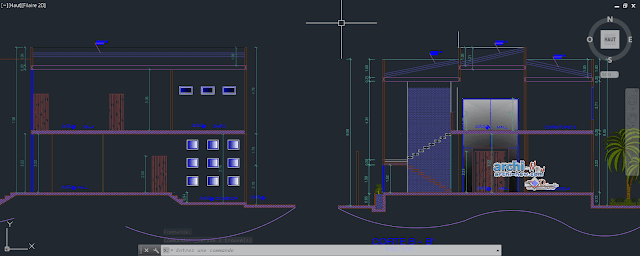 University house in AutoCAD