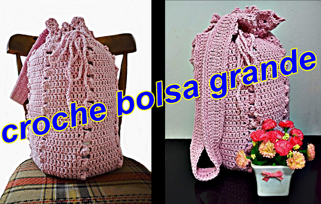 acessórios aprender croche bolsa versão destros edinircrochevideos youtube curso de croche facebook