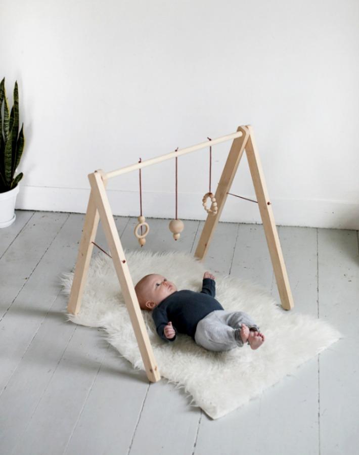 Diy Decoracion Bebe ~ Decoraci?n F?cil Diy Gimnasio de madera para el beb?