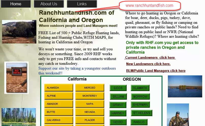 hunting fishing maps and reports, oregon and california, hunting and fishing public lands california oregon