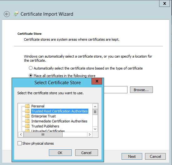 locate Trusted Root Certification Authorities