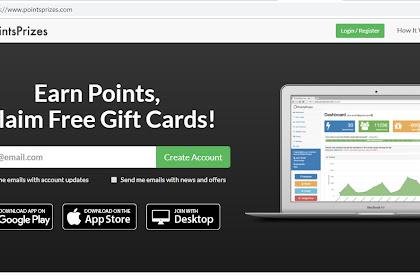 Gratis $20 dari Poinprizes Prosess Daftar dan Claim Sangat Mudah #BitCoin #Paypal #Amazon