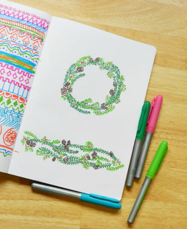 Christmas Greenery Drawing: Grow Creative