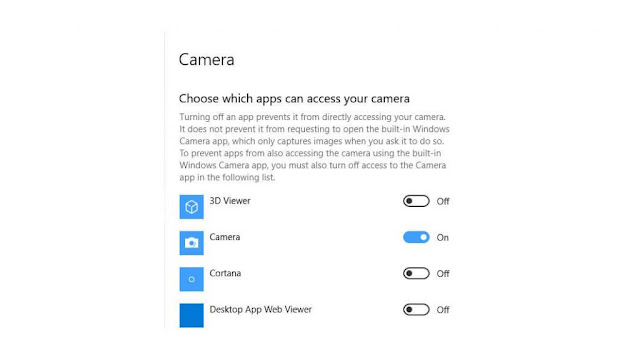 Allow apps to access your camera.