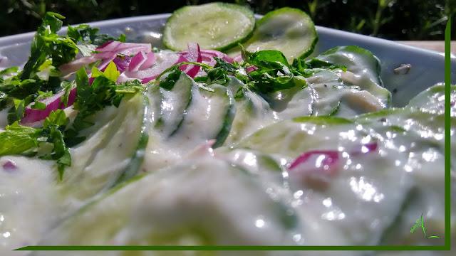 La cuisine de christine le yaourt au concombre ou for La cuisine de christine