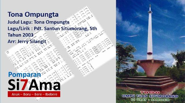 Lirik Lagu Tona Ompungta Tuan Situmorang Sipituama