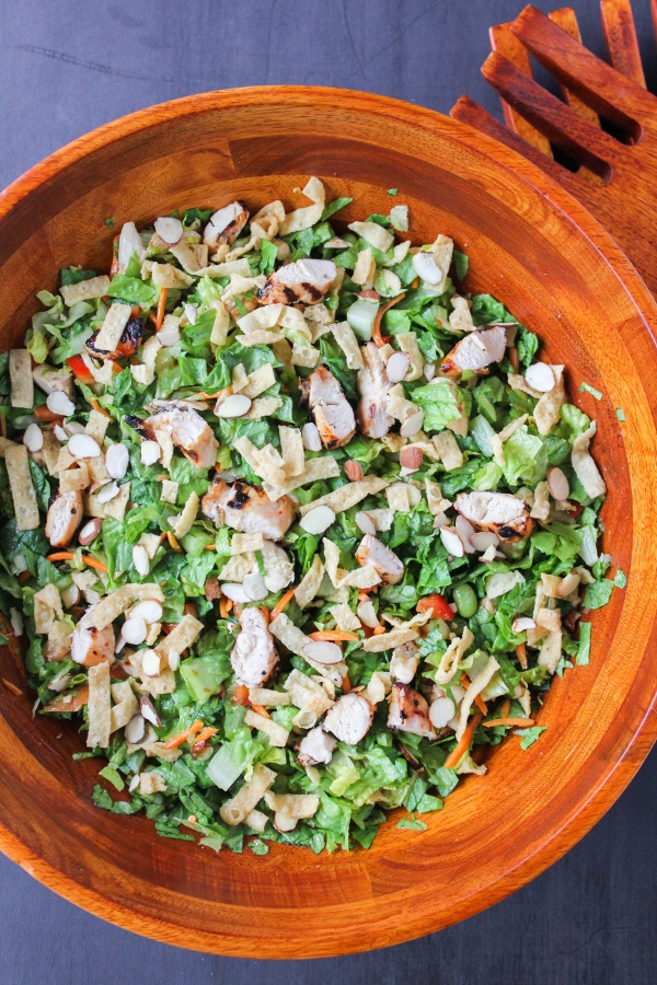 This flavor packed Sesame Chopped Chicken Salad is a perfect dish for summer BBQ's, potlucks, or just for family dinner!