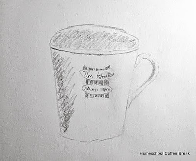 Coffee on the Virtual Fridge, an art link-up hosted by Homeschool Coffee Break @ kympossibleblog.blogspot.com #VirtualFridge