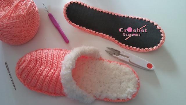 كروشيه على نعل حذاء . طريقة تخريم نعل حذاء لاشتغال الكروشي . كروشيه على نعل جلد . حياكة الكروشيه على النعل جلد  . ADD SOLES TO CROCHET SLIPPERS OR SHOES .  . COMO TEJER PLANTILLAS PARA ZAPATOS .Crochet onto flip flops  . crochet zapato con suela reciclad .  طريقة اشتغال وادخال الكروشيه على نعل حذاء .  تحضير النعل لاشتغال الكروشيه .  .