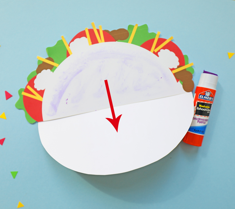 how to make a taco shaped card