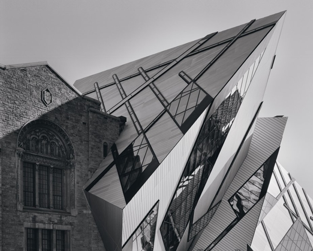 Royal Ontario Museum by Studio Daniel Libeskind black and white photography
