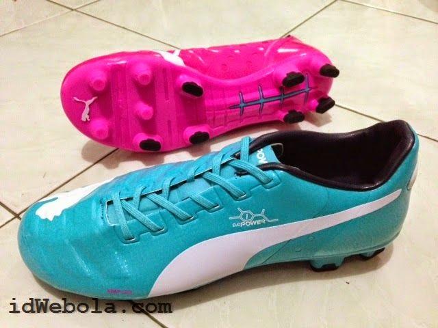 Sepatu Puma Evo Power Biru Pink