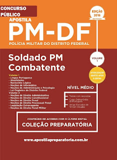 Apostila concurso PM/DF Soldado Combatente da Policial Militar (DF).