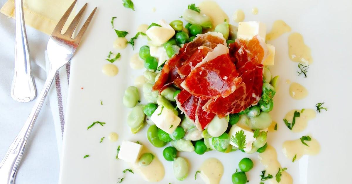 Blog de cuina de la dolorss ensalada de habas guisantes for Siembra de habas y guisantes