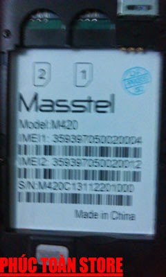 Rom gốc Masstel MT6572 ok alt