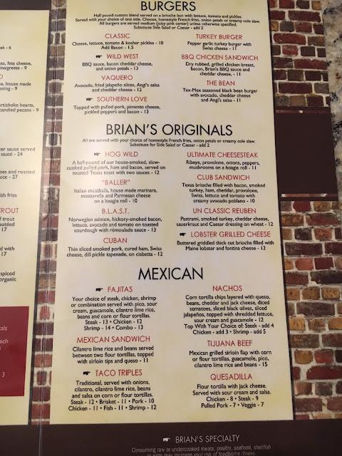 Brian's Restaurant Newnan GA Menu