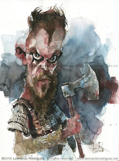 Floki-from-vikings-watercolor-caricature