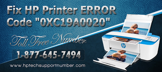 "Fix HP Printer Error code ""0XC19A0020"""