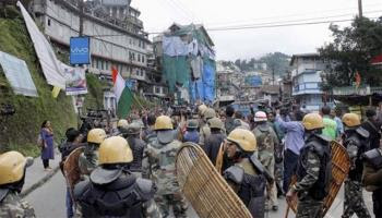 Paramilitary forces in Darjeeling town