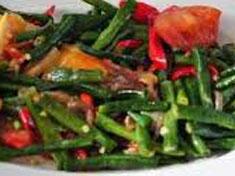 Resep masakan indonesia tumis kacang panjang spesial (istimewa) praktis mudah sedap, nikmat, enak, gurih lezat