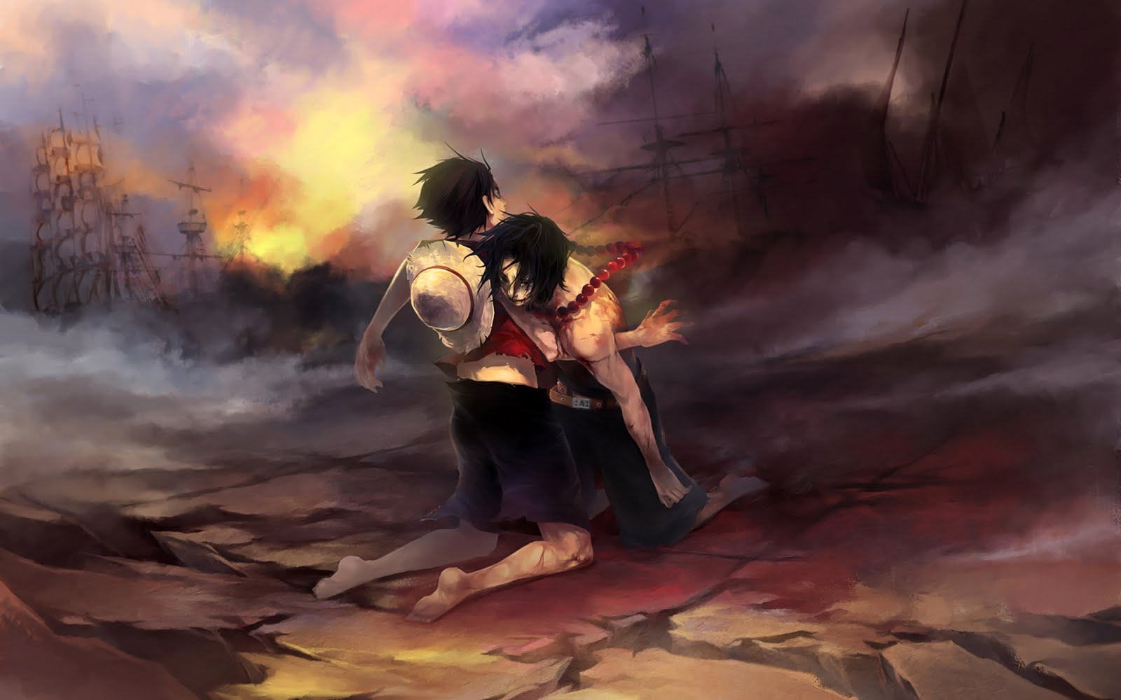 Wallpaper Ace Die in Marineford One Piece Anime ...