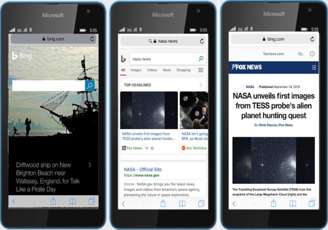 Bing finalmente lanza el visor de AMP para las noticias en la búsqueda móvil