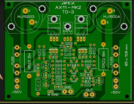 PCB Power Apex AX11-MK2 Layout
