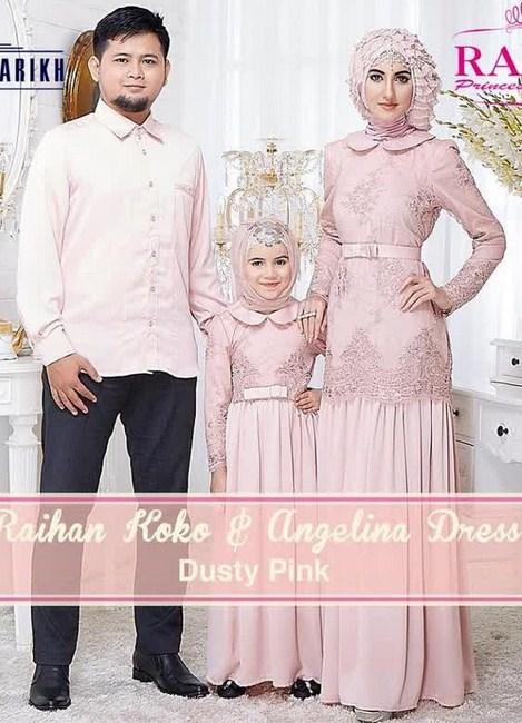 Jual Baju Gamis Couple Keluarga Gamis Murni Gambar Baju Gamis