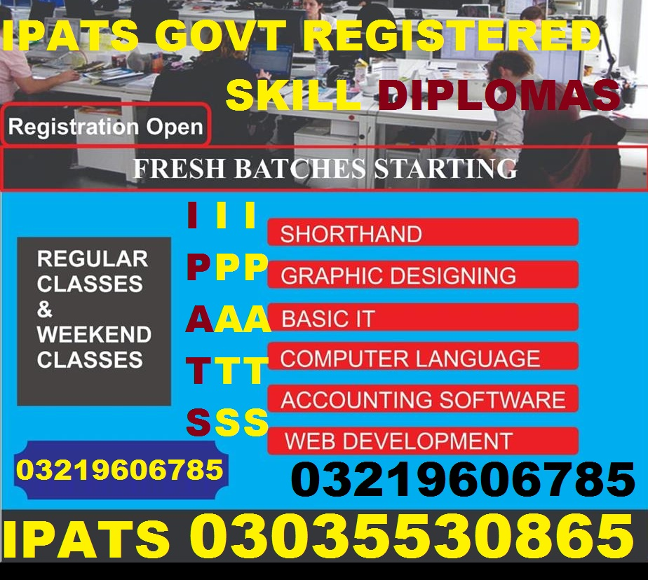 1 year and 2 year Punjab Government approved Diploma in any trade O3O3-553O865