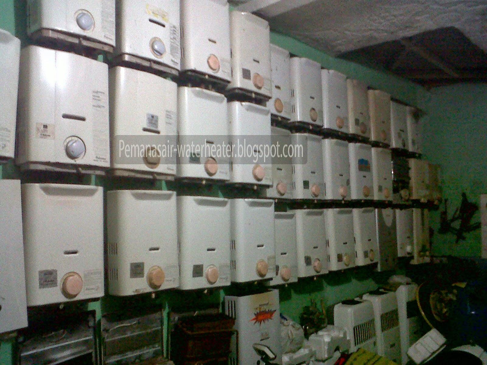 interiior toko water heater bandung bekas