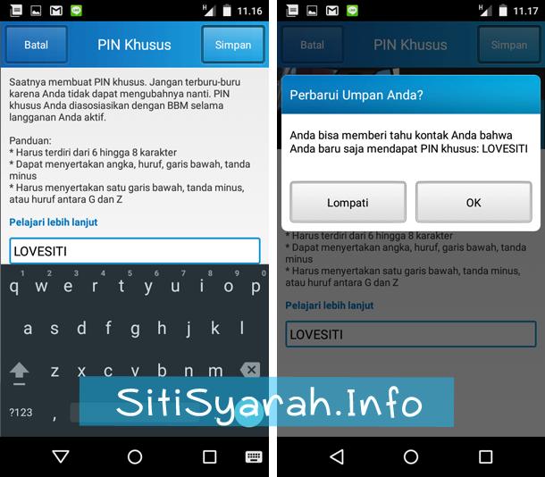 Mengganti PIN BBM Android