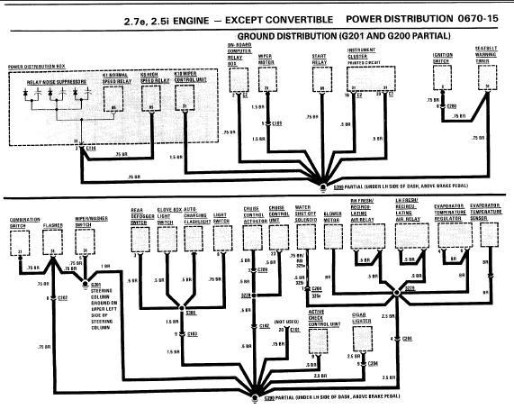 repairmanuals: BMW 3 Series 1987 Electrical