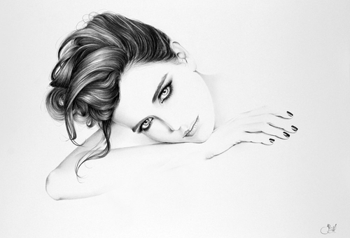 09-Eva-Green-Ileana-Hunter-Celebrity-Black-and-White-Stylish-Drawing-Portraits-www-designstack-co
