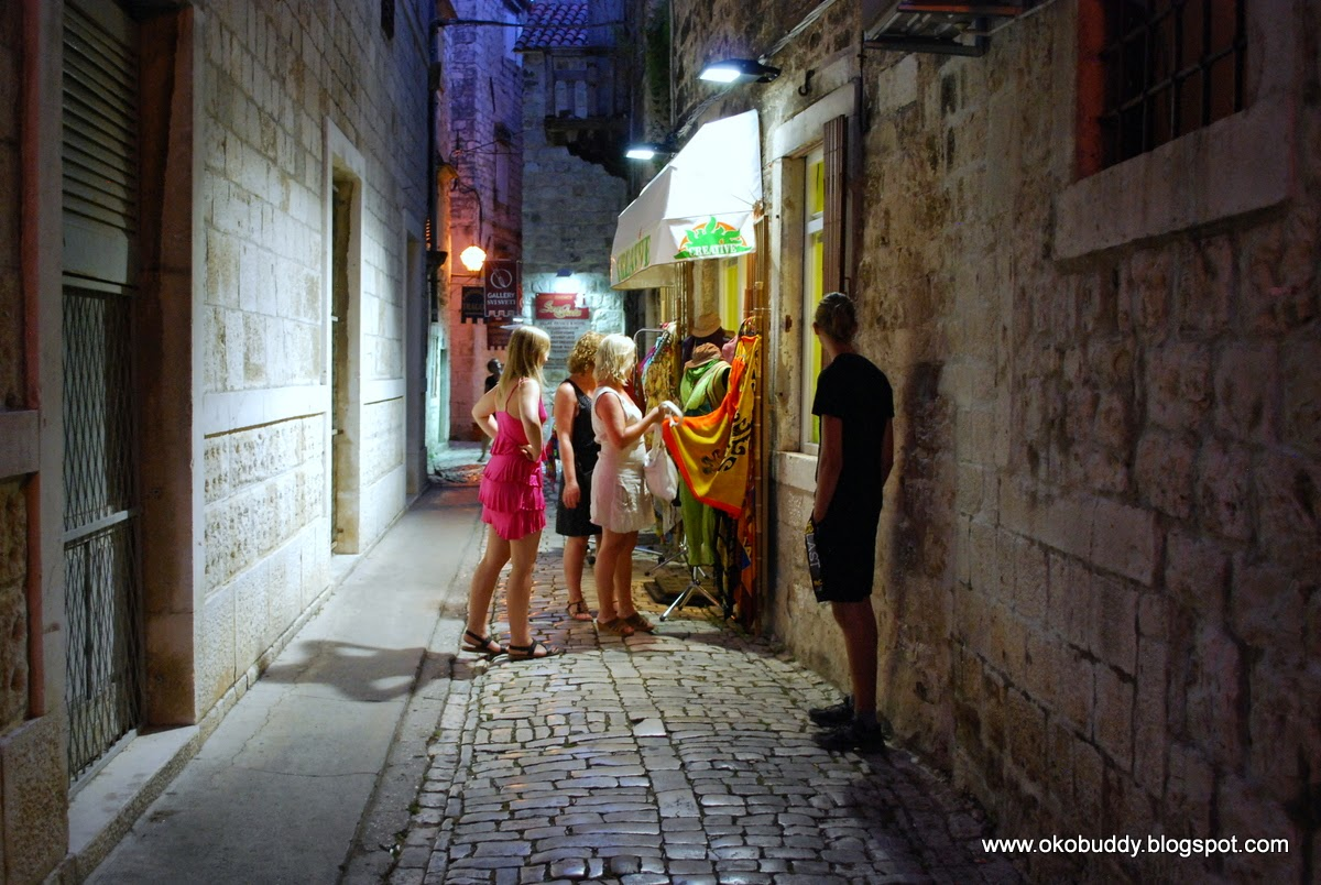 Trogir - street in the evening