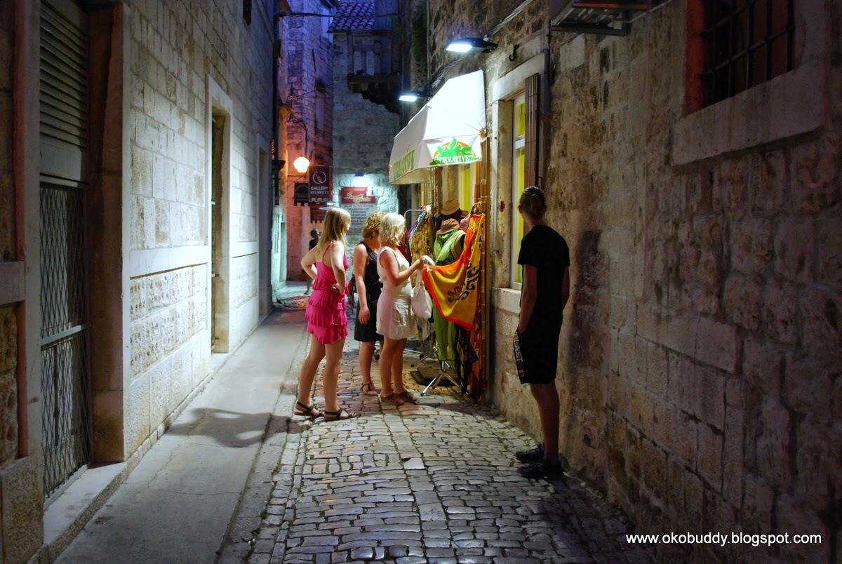 Trogir - street in the evening