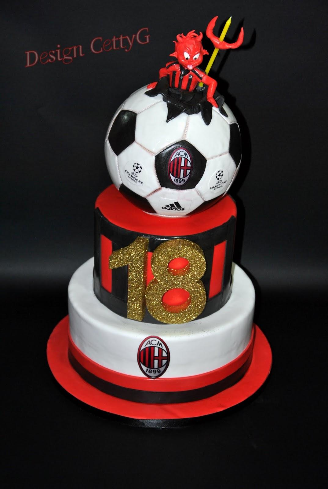 abbastanza Le torte decorate di Cetty G: 18 anni torta Milan TW57
