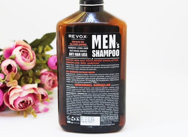 Revox Men's Shampoo,erkeklere özel şampuan önerisi, erkeklerde saç bakımı,saç dokülmesi,