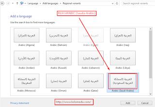 Cara instal huruf arab di laptop