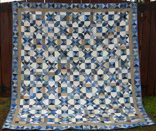 My Blue Heaven Bed Quilt Free Tutorial