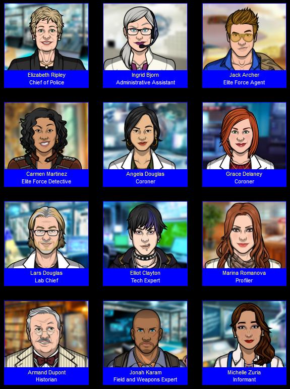 Criminal Case World Edition Main Characters Criminal Case