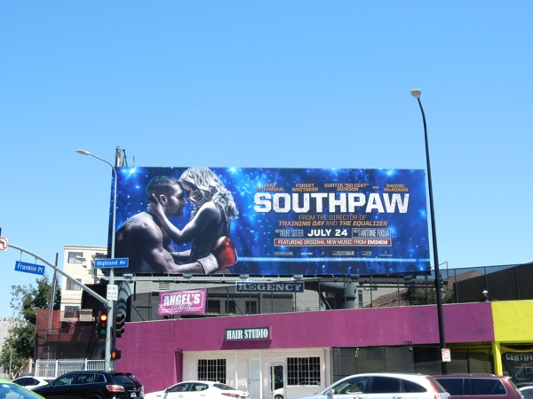 Southpaw film billboard