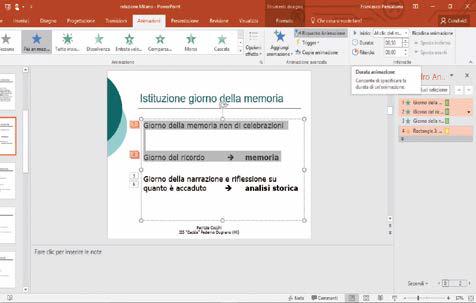 come impostare durata dell'animazione presentazione powerpoint