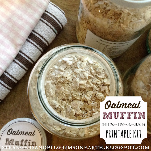 Oatmeal Muffin Recipe and Printables